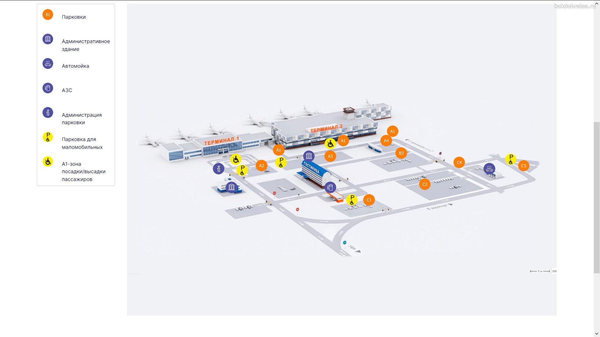 Карта аэропорта Уфы