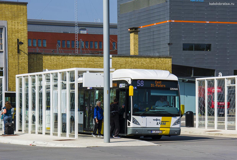 Из Брюсселя в Брюгге автобус