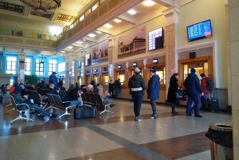 Новосибирск-Главный вокзал зал ожидания и кассы