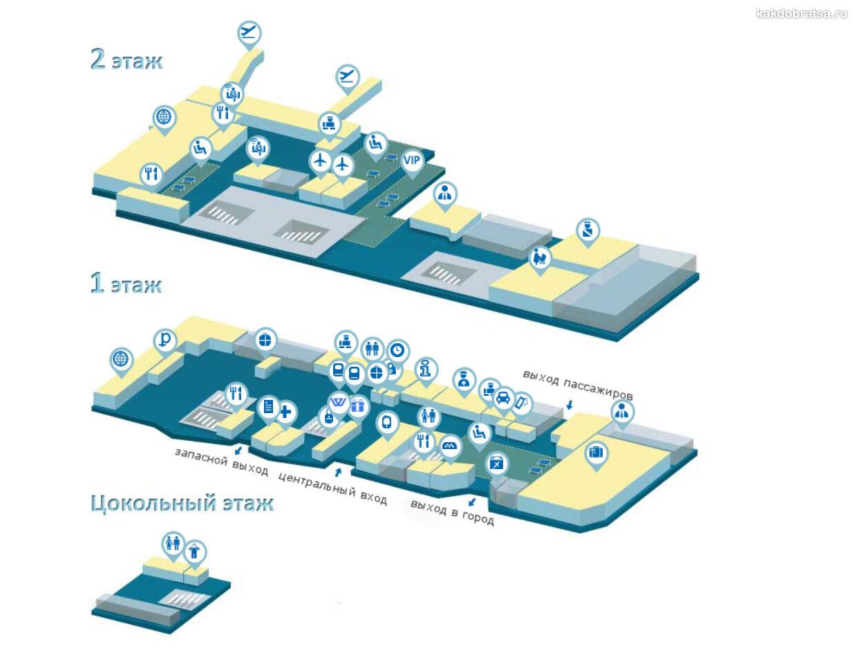 Аэропорт Сургут карта схема