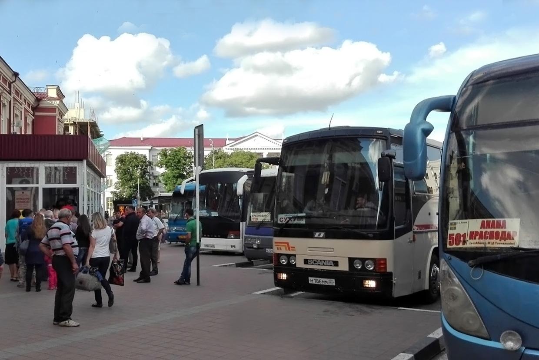 Маршрута междугородних автобусов из Краснодара
