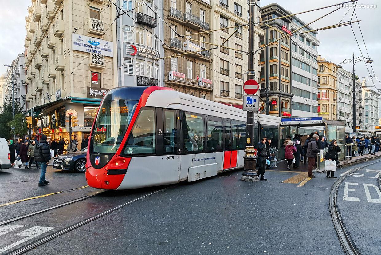 Трамвай до Дворца Долмабахче