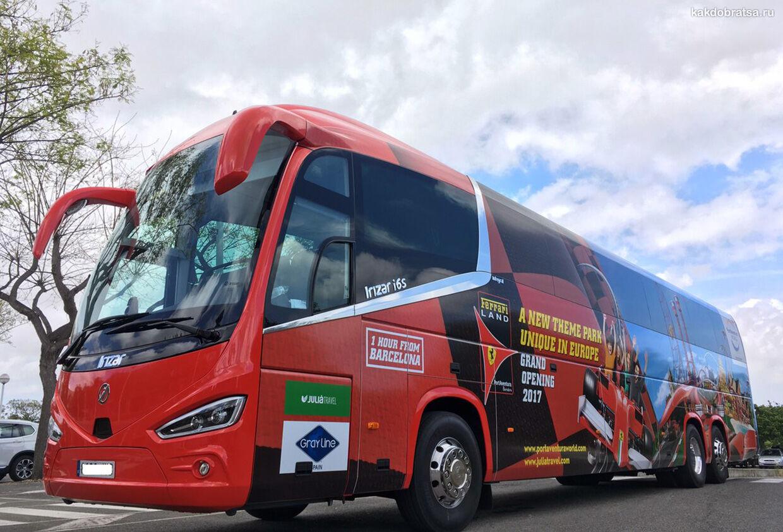 На автобусе в Порт Авентура