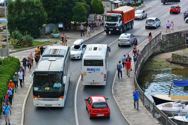 Будва Котор прямой автобус стоимость проезда