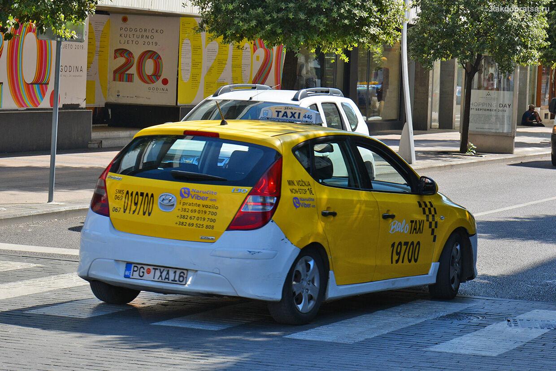 Такси из Будвы в Подгорицу