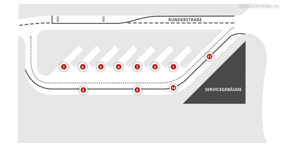 Автовокзал Ганновер карта схема платформ