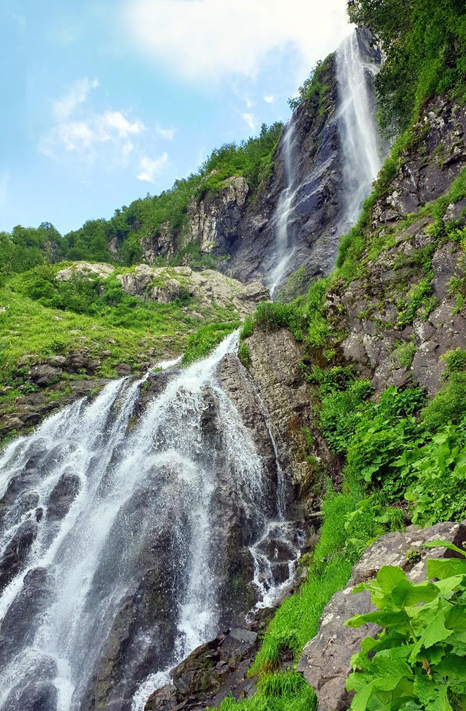 Водопад Поликаря рядом с Сочи и Красной поляной