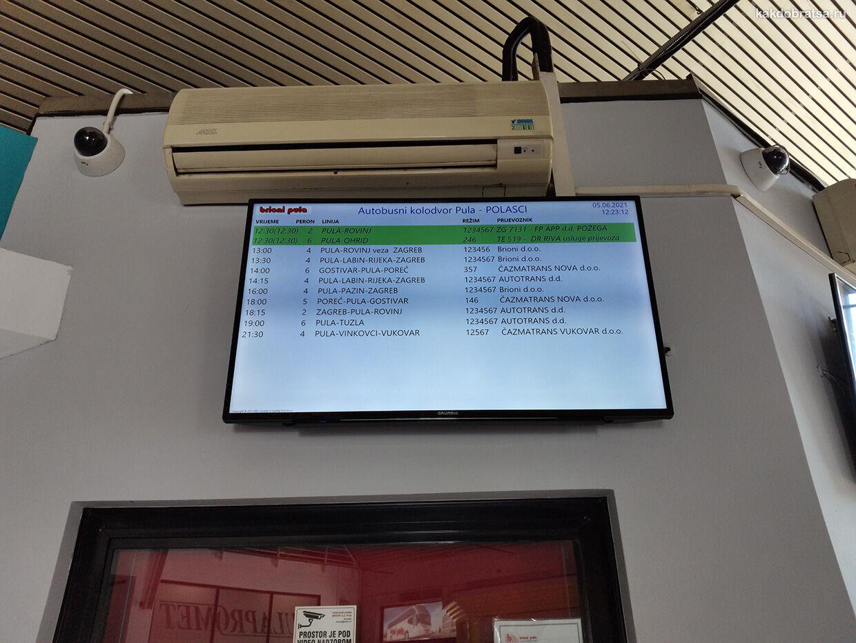 Автовокзал Пулы расписание онлайн