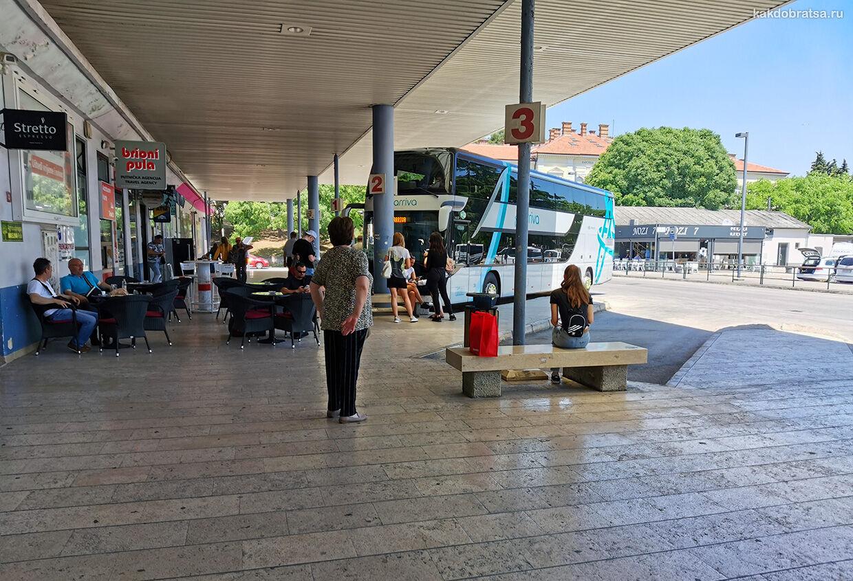 Автовокзал Пулы главный центральный