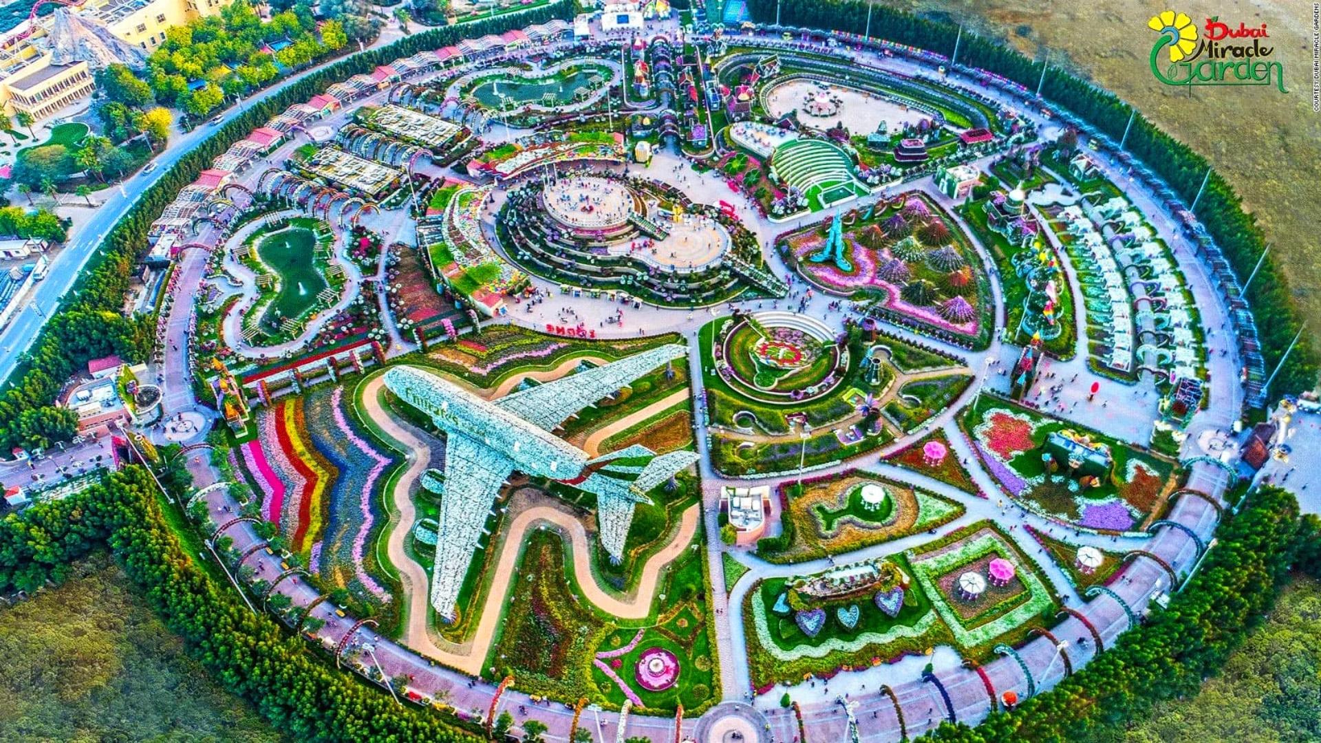 Парк цветов Сад чудес в Дубае карта