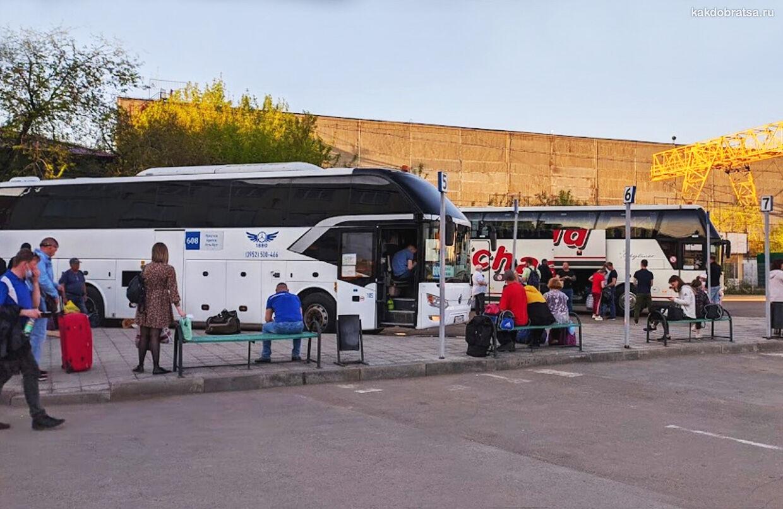 Иркутск автовокзал платформы отправления