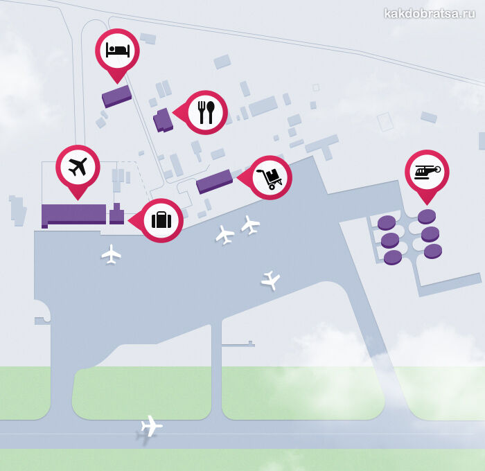 Карта аэропорта Махачкала