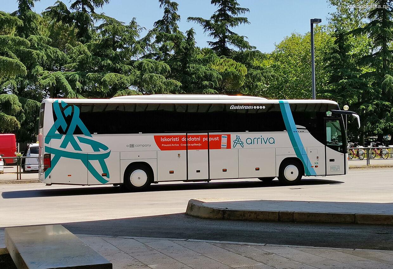 Междугородний автобус из Пулы в Ровинь