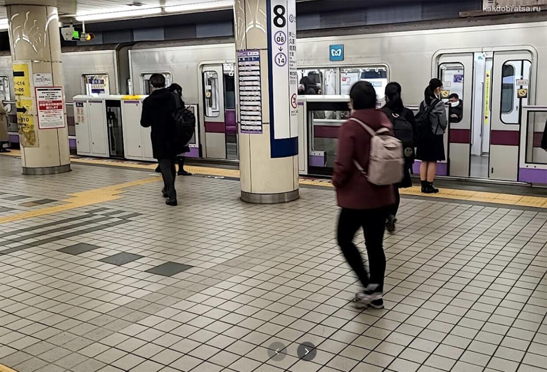 Правила поведения в метро Токио