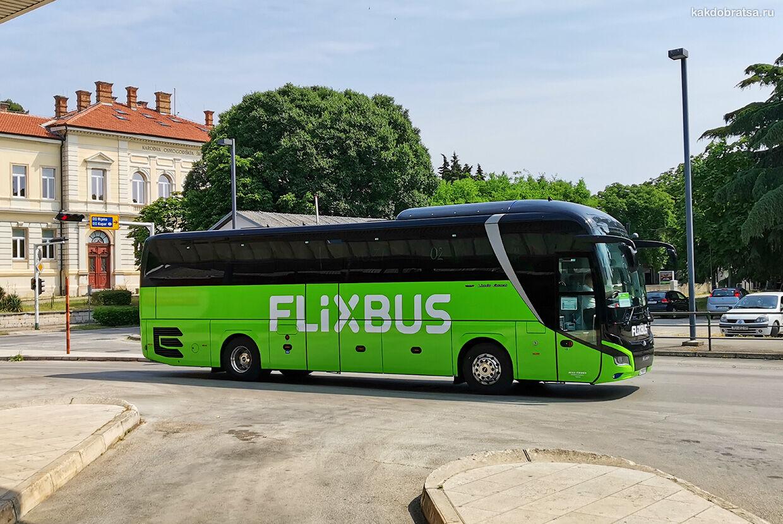 Автобус из Загреба в Пулу