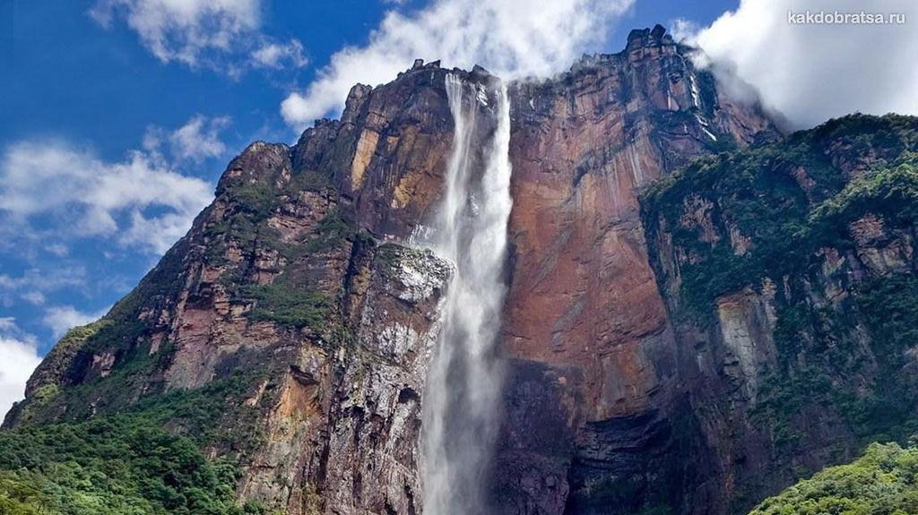 Анхель водопад где находится, высота, точка на карте и как добраться