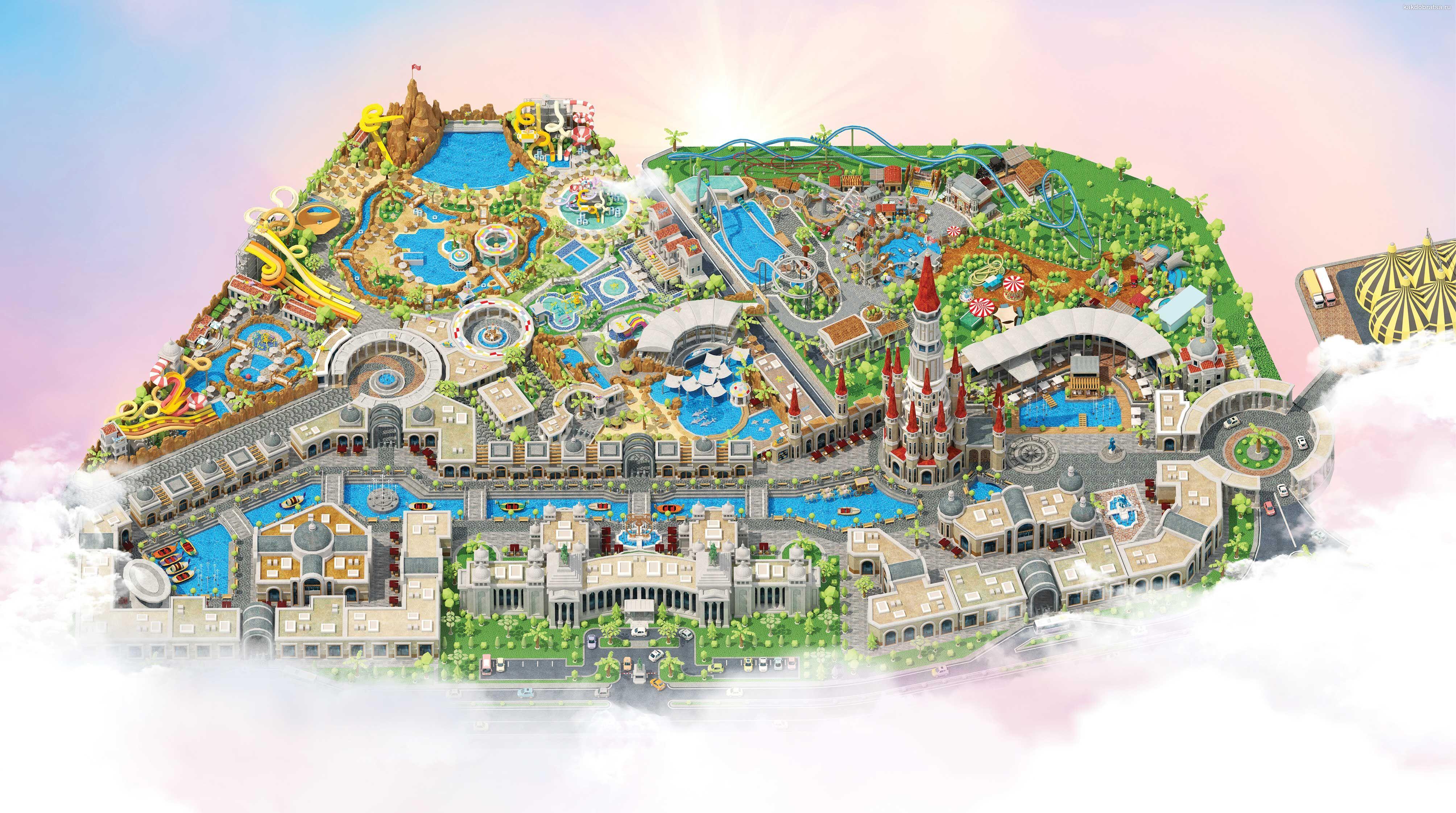 Land of Legends в Турции карта схема парка развлечений