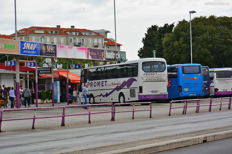 Сплит междугородние автобусы
