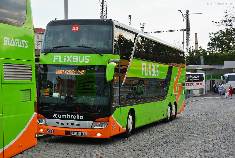 Автобус из Варшавы в Прагу